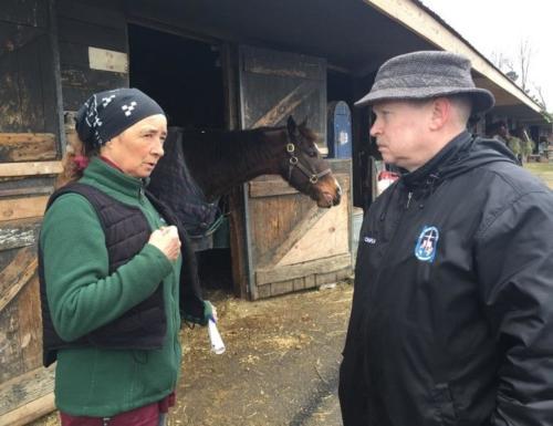 Chaplain at the Pony barns
