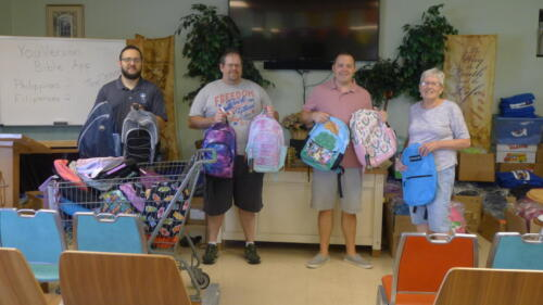 Back-to-School bookbags for children of backstretch families!